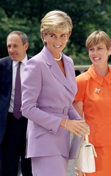 Diana, The Princess Of Wales Visits Washington, Usa.Anti-Landmines Speech At The Red Cross Headquart...