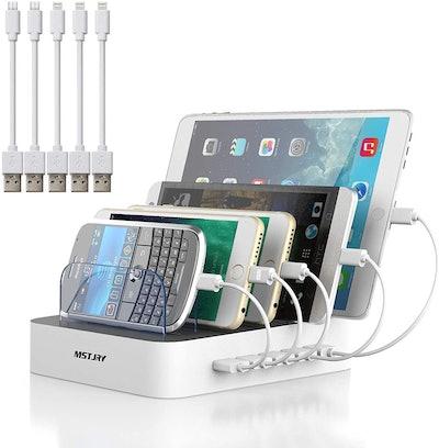MSTJRY 5-Port Multi USB Charger Station