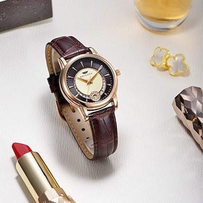 BRIGADA Waterproof Leather Strap Watch