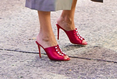 """Sarah Jessica Parker's shoes on the set of """"And Just Like That..."""""""