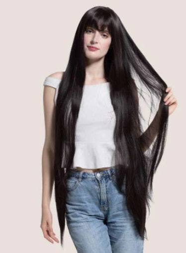Nature Long Straight Wig With Bangs