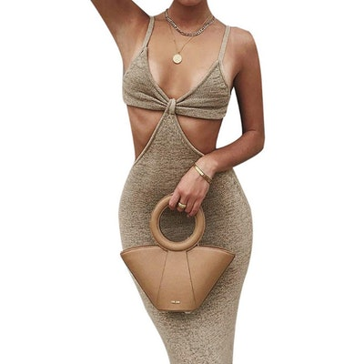 LouVasabuce Open Back Knit Dress