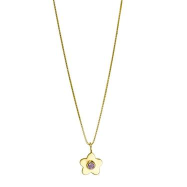 Above Average Studio Daisy Gemstone Necklace Lilac Brands Like Kendra Scott