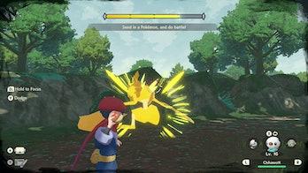 Gameplay depicting a frenzied noble Pokémon