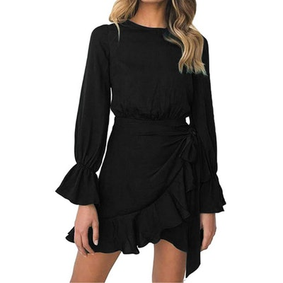 WEEPINLEE Ruffle Wrap Dress