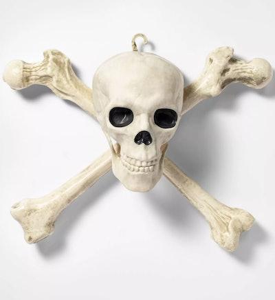 Wall decor; skull and crossbones