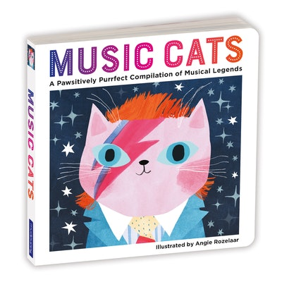 'Music Cats', illustrated by Angie Rozelaar