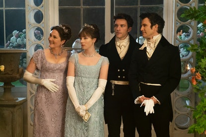 Ruth Gemmell as Lady Violet, Claudia Jessie as Eloise, Jonathan Bailey as Anthony, Luke Thompson as ...