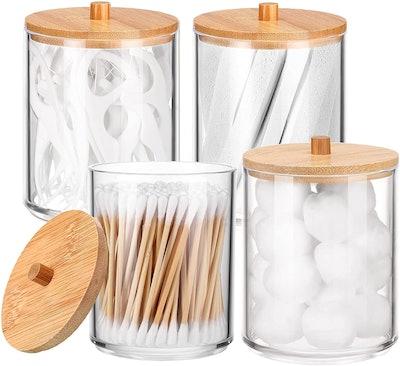 Jetec Bathroom Jars for Storage (4-Pack)