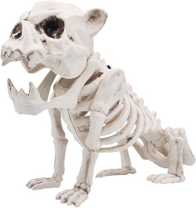 Halloween decoration; dog skeleton