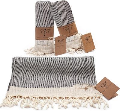 Smyrna Turkish Cotton Hand Towels (2 Pack)