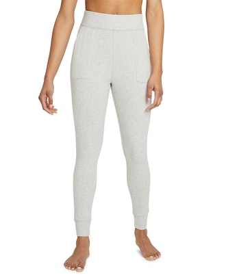 Beige Core Brushed Fleece High-Waist Leggings from Nike, available to shop on Macy's.