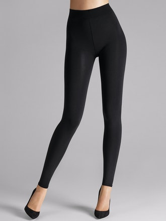 Black Velvet Sensation leggings from Wolford.
