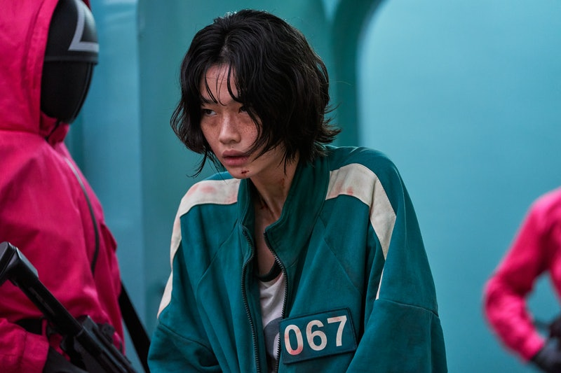 Model and actor HoYeon Jung plays Kang Sae-byeok in 'Squid Games.'