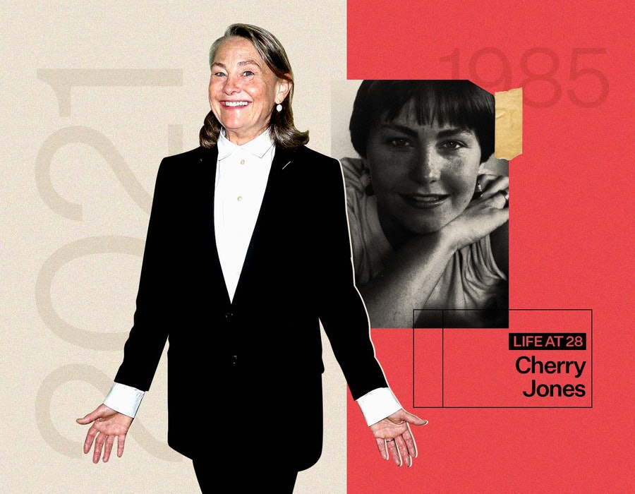 Cherry Jones at 28 and today.