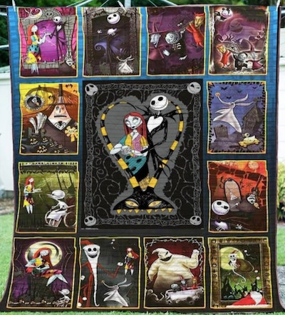 Nightmare Before Christmas quilt.