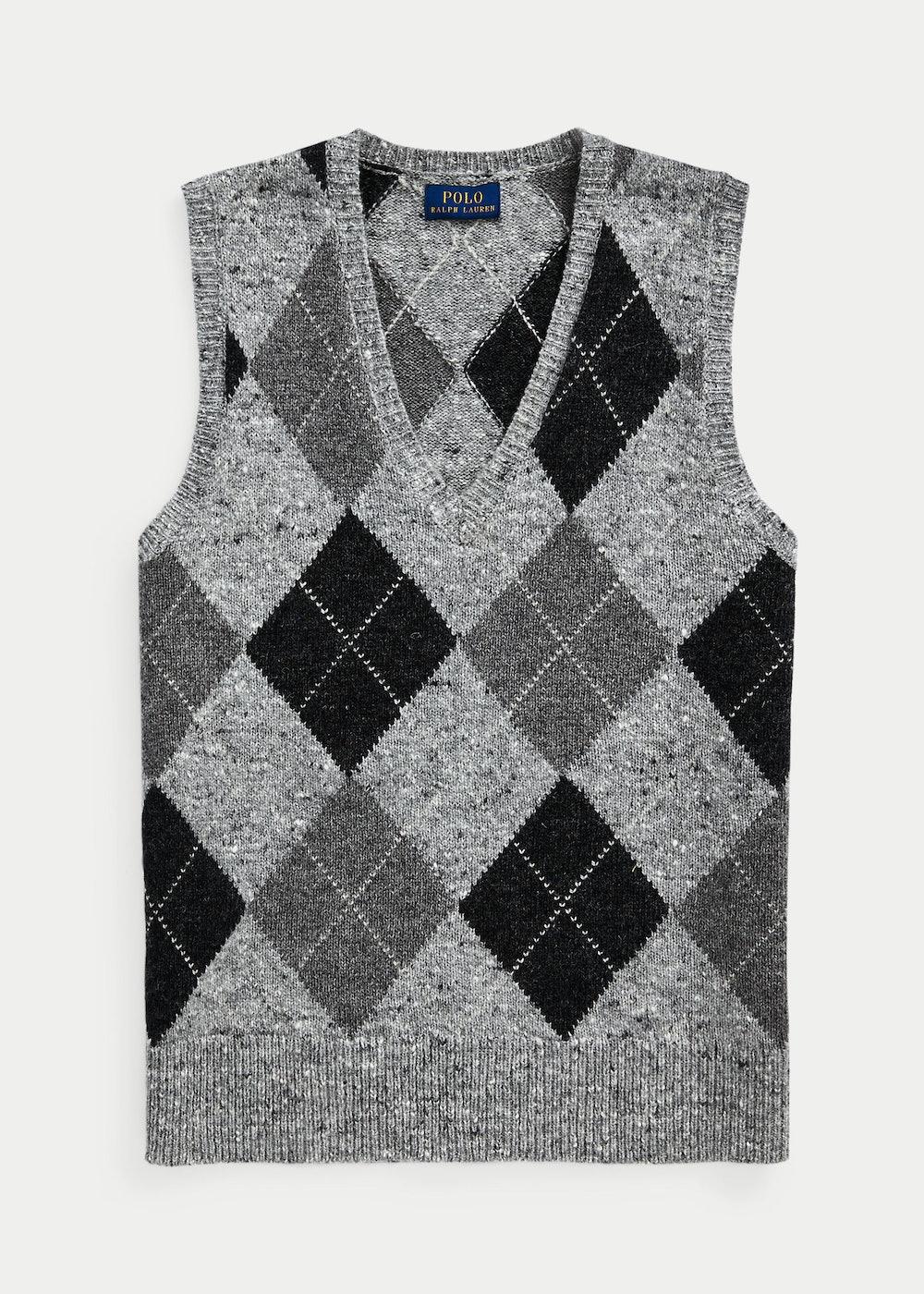 Argyle Wool Sweater Vest
