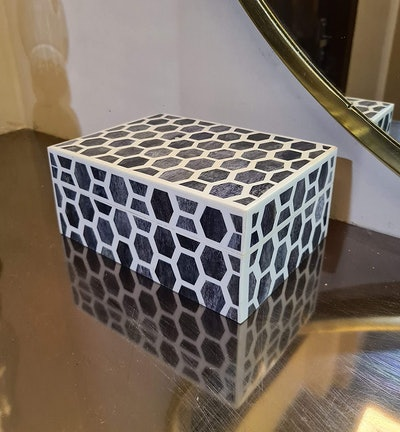 collectiblesBuy Antique Handcrafted Grey Bone Inlay Decorative Box