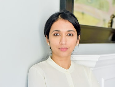Shrankhla Holecek in a white outfit