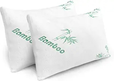 PLX Bamboo Cooling Memory Foam Pillows (2-Pack)