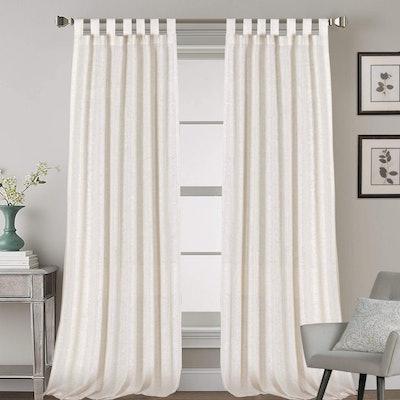 H.VERSAILTEX High Woven Linen Curtain Panels (2-Pack)
