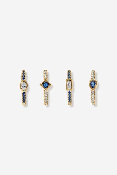 Karon Sapphire Earring Set Adornmonde