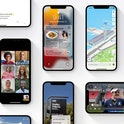 iPhones displaying various apps using iOS 15.