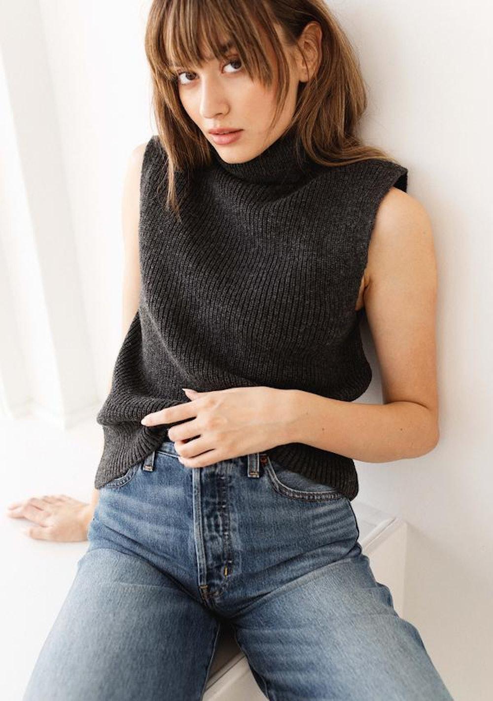 ONL Paris Life Roll Vest Pullover