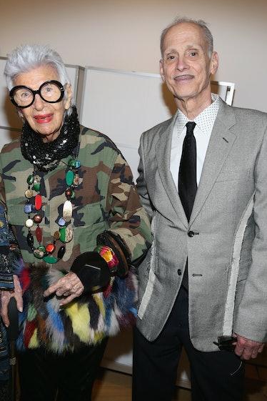 Iris Apfel and John Waters