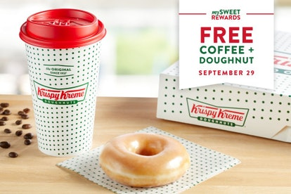 National Coffee Day 2021 deals on Sept. 29 include free coffee from Krispy Kreme.