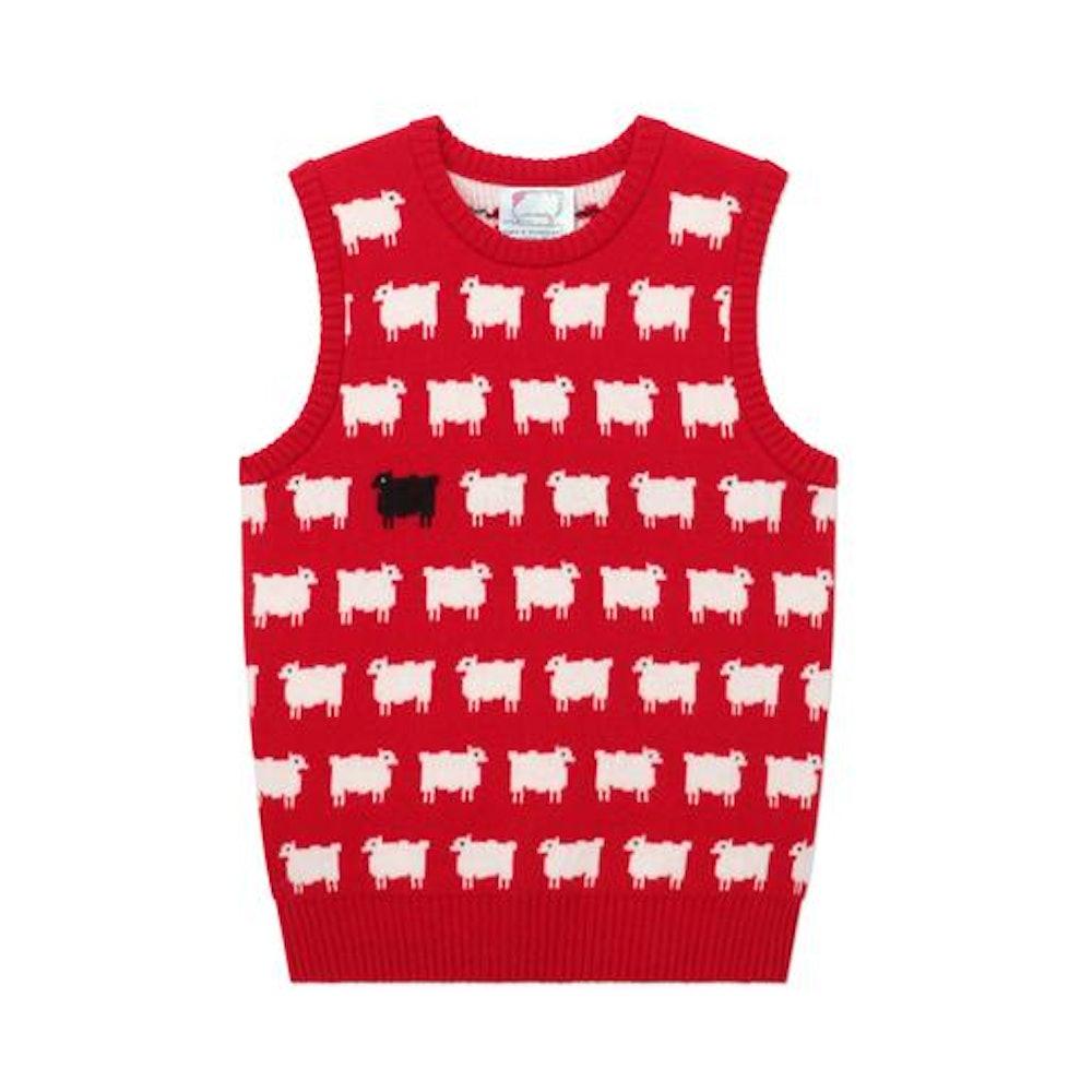 Warm & Wonderful X Rowing Blazers Sheep Sweater Vest