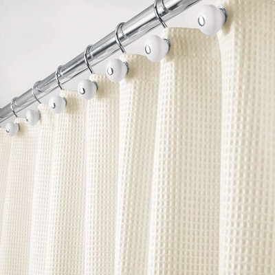 mDesign Washable Shower Curtain