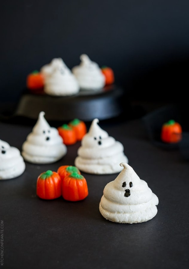 These ghost meringues are one Halloween treat babies can enjoy.
