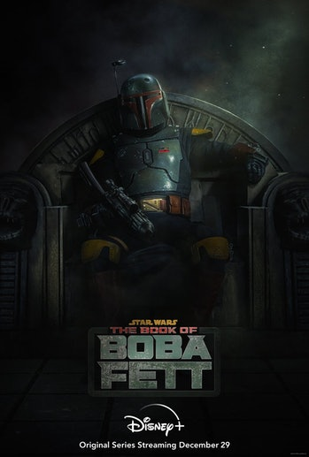 The official poster and release date for Book of Boba Fett.