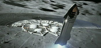 Concept art of Musk's Moon base.