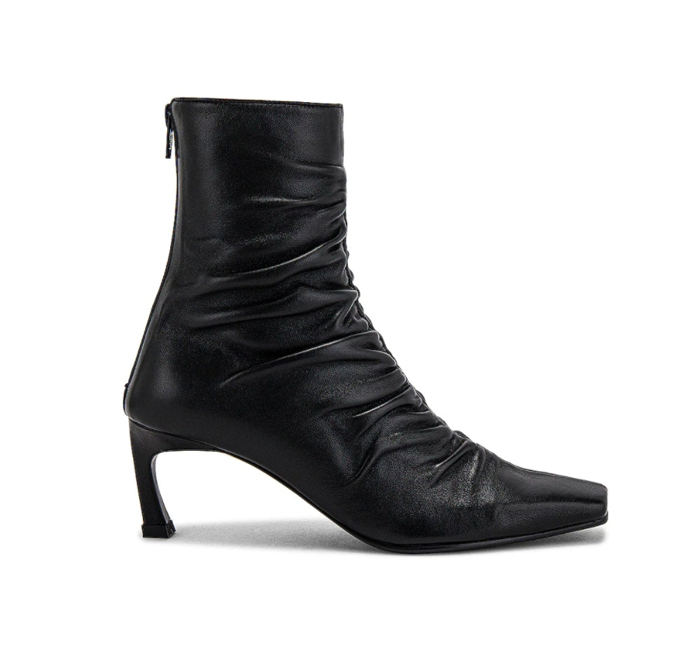 Front Shirring Ankle Boots