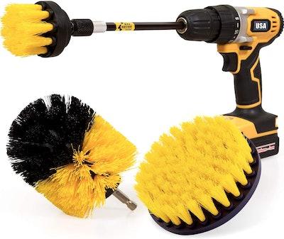 Holikme Power Drill Scrub Brushes (Set of 3)