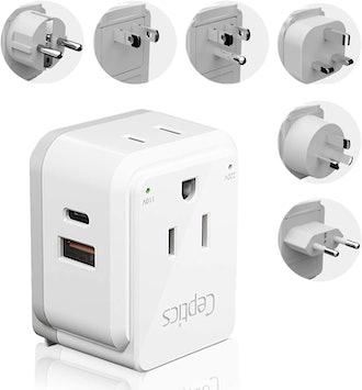 World Power Plug Adapter Travel Set