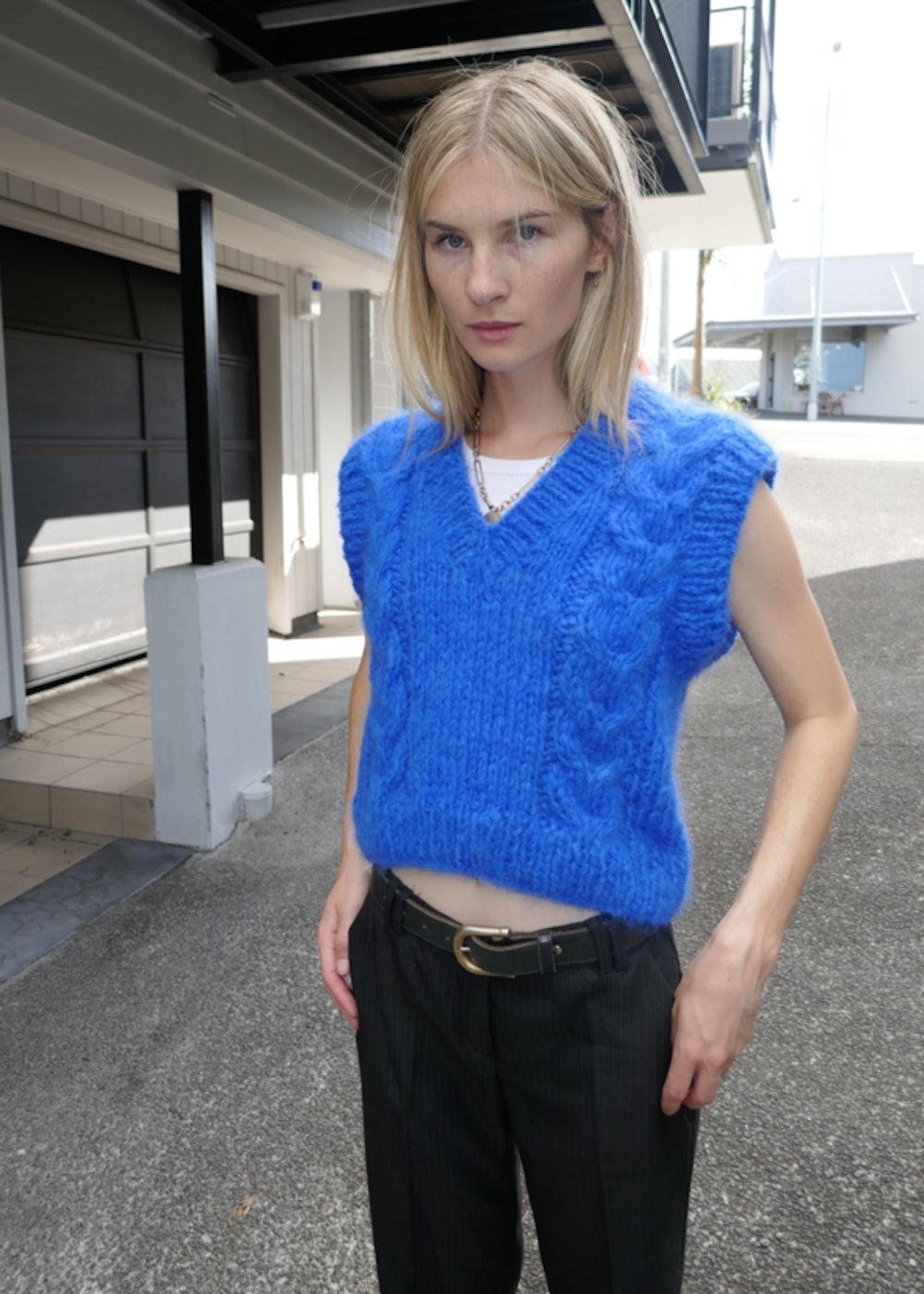 Eliza Mohair Vest in Royal