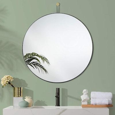 Harmati Round Mirror Metal Black Frame