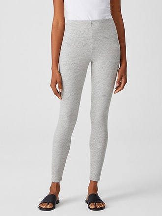 Cozy Brushed Terry Leggings in color Dark Pearl from Eileen Fisher.