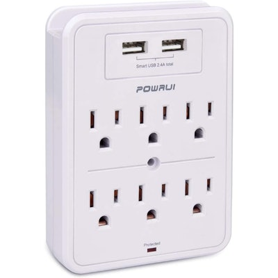 POWRUI 6 Outlet Surge Protector