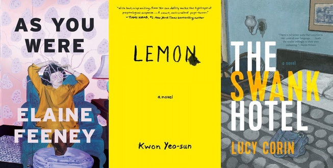 The book covers for As You Were, Lemon, and The Swank Hotel.