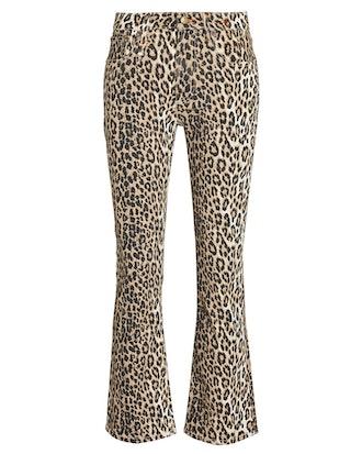 Kick Fit Leopard High-Rise Jeans
