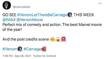 venom 2 post credits scene