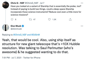Musk's proposal.