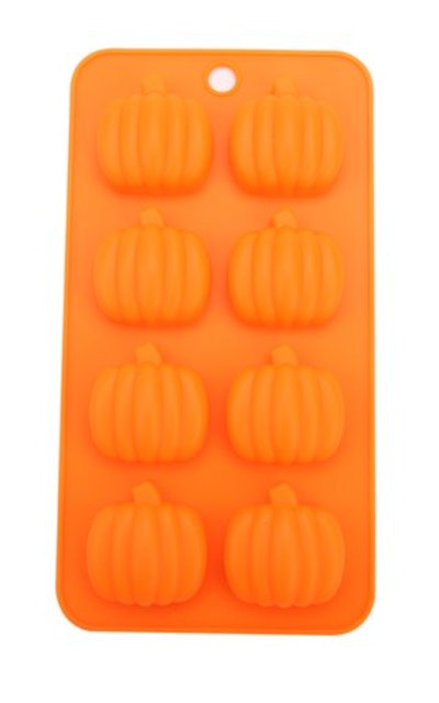 Use this orange pumpkin silicone mold to make Halloween treats for babies.