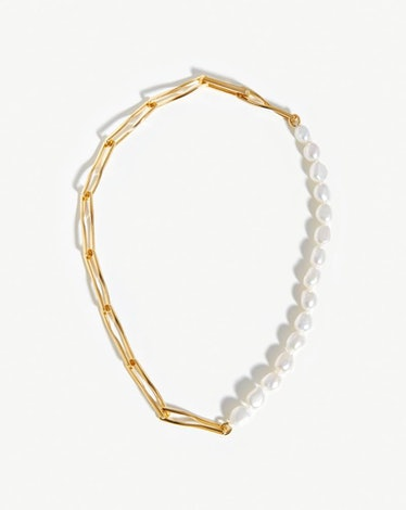 Baroque Pearl Twisted Link Necklace Missoma