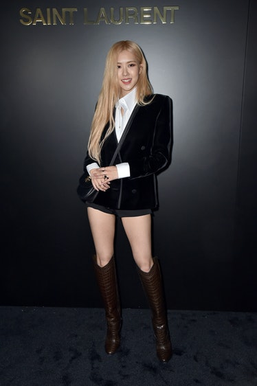 Rose Park attends the Saint Laurent show as part of the Paris Fashion Week Womenswear Fall/Winter 20...