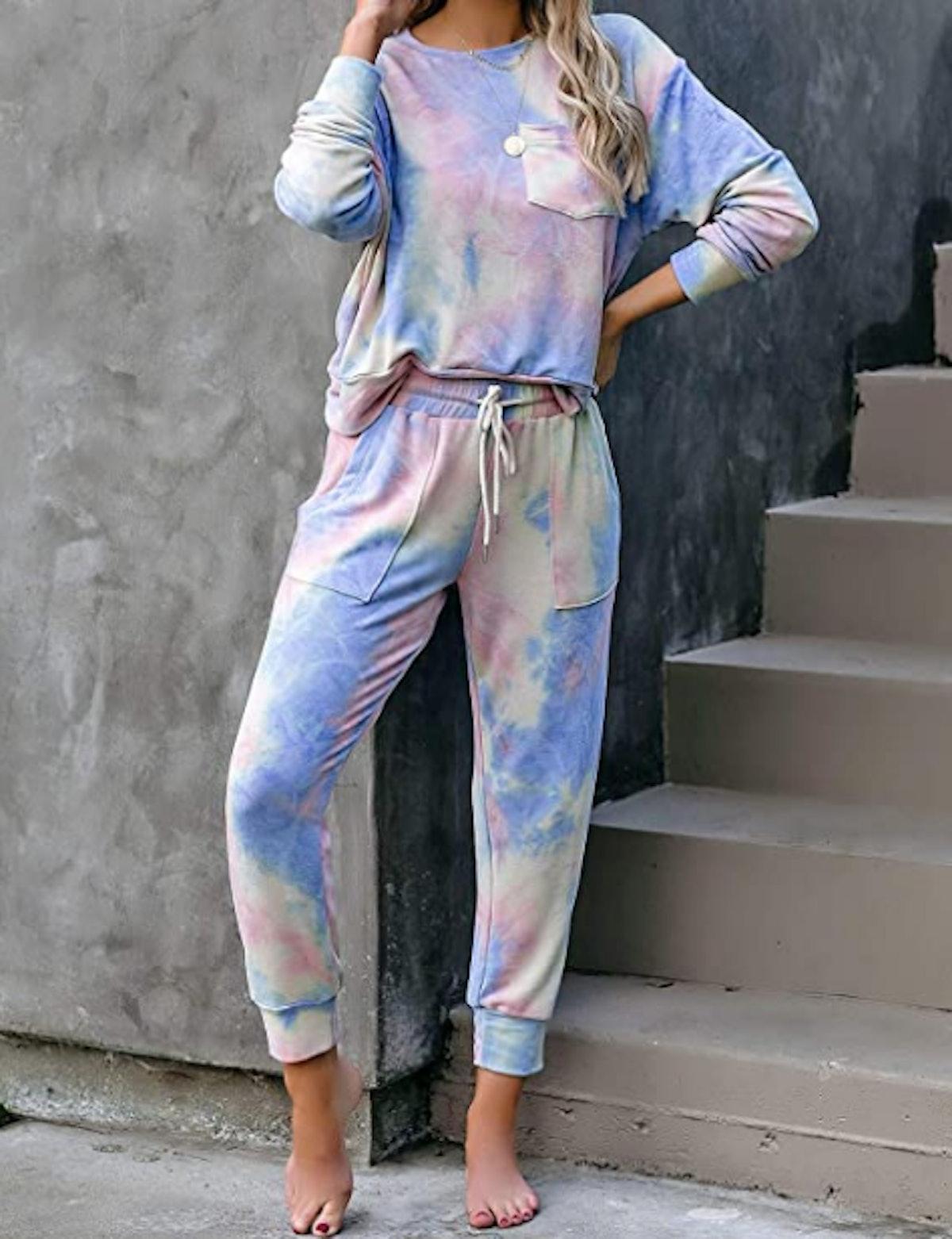 luvamia Women Tie Dye Pajama Set
